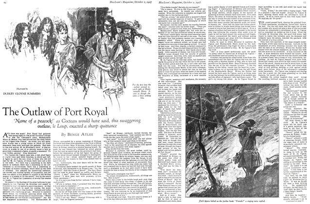 Article Preview: The Outlaw of Port Royal, October 1st. 1927 1927 | Maclean's