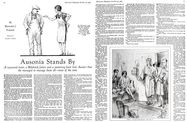 Article Preview: Ausonia Stands By, October 15th 1927 1927 | Maclean's