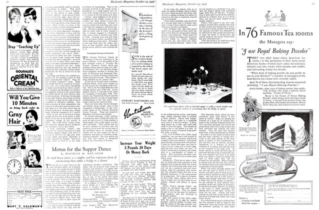 Article Preview: Menus for the Supper Dance, October 15th 1927 1927 | Maclean's