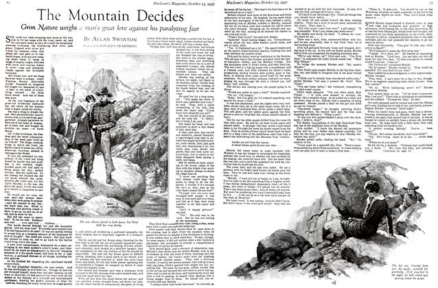 Article Preview: The Mountain Decides, October 15th 1927 1927 | Maclean's