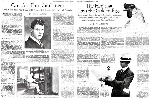 Article Preview: The Hen that Lays the Golden Eggs, October 15th 1927 1927   Maclean's