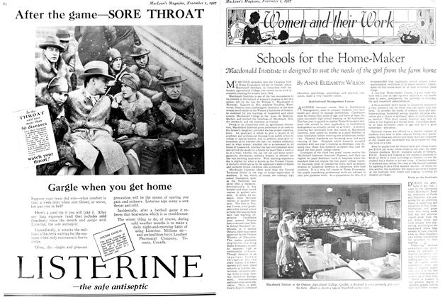 Article Preview: Schools for the Home-Maker, November 1st 1927 1927 | Maclean's