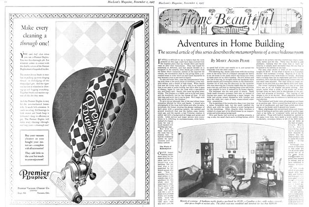 Article Preview: Adventures in Home Building, November 1st 1927 1927 | Maclean's