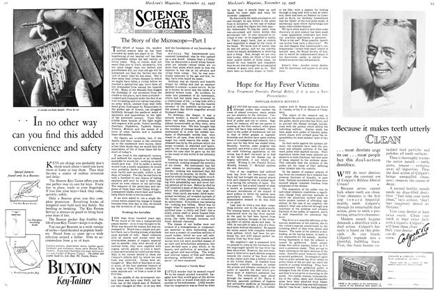 Article Preview: SCIENCE CHATS, November 15TH 1927 1927 | Maclean's