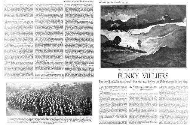 Article Preview: FUNKY VILLIERS, November 15TH 1927 1927 | Maclean's