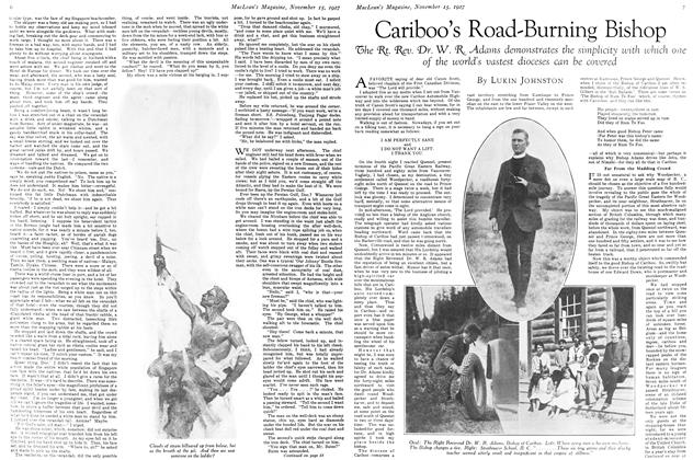 Article Preview: Cariboo's Road-Burning Bishop, November 15TH 1927 1927 | Maclean's
