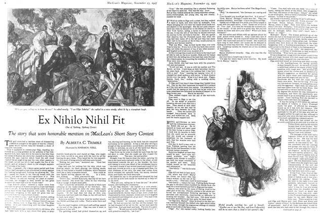 Article Preview: Ex Nihilo Nihil Fit, November 15TH 1927 1927 | Maclean's