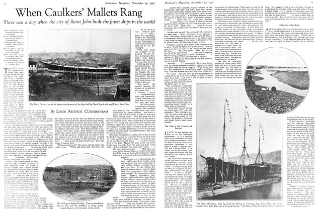 Article Preview: When Caulkers' Mallets Rang, November 15TH 1927 1927 | Maclean's