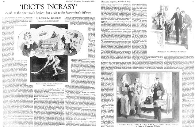 Article Preview: 'IDIOT'S INCRASY', December 1ST 1927 1927 | Maclean's