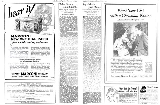 Article Preview: Says Music Just Music, December 1ST 1927 1927 | Maclean's