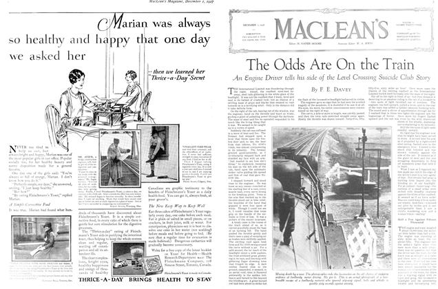 Article Preview: The Odds Are On the Train, December 1ST 1927 1927 | Maclean's