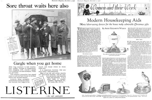 Article Preview: Modern Housekeeping Aids, December 1ST 1927 1927 | Maclean's