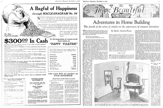 Article Preview: Adventures in Home Building, December 1ST 1927 1927 | Maclean's