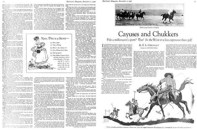 Article Preview: Cayuses and Chukkers, December 1ST 1927 1927 | Maclean's