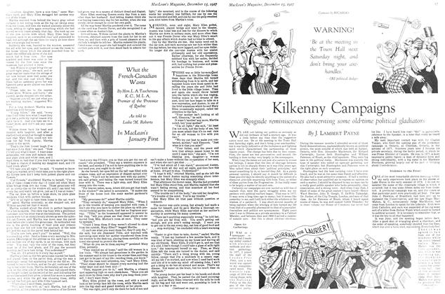 Article Preview: Kilkenny Campaigns, December 15th 1927 1927 | Maclean's