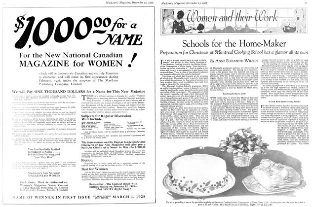 Article Preview: Schools for the Home-Maker, December 15th 1927 1927 | Maclean's