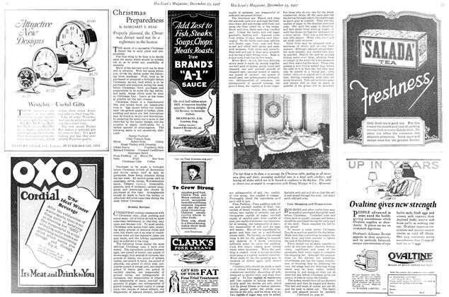 Article Preview: Christmas Preparedness, December 15th 1927 1927 | Maclean's