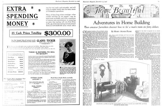 Article Preview: Adventures in Home Building, December 15th 1927 1927   Maclean's