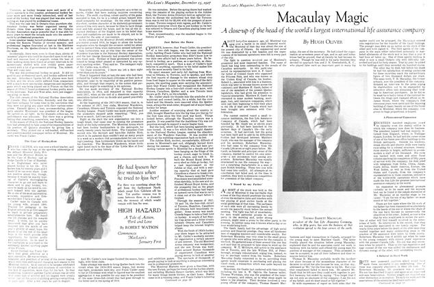 Article Preview: Macaulay Magic, December 15th 1927 1927 | Maclean's