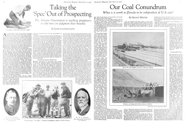 Article Preview: Our Coal Conundrum, December 15th 1927 1927 | Maclean's