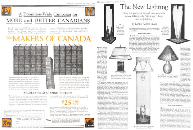 Article Preview: The New Lighting, January 1929 | Maclean's