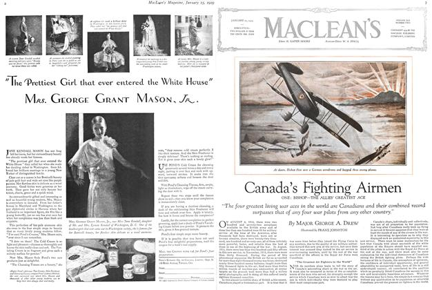 Article Preview: Canada's Fighting Airmen, January 1929 | Maclean's