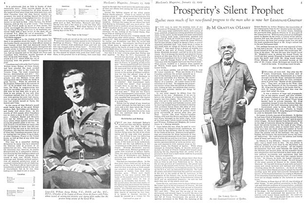Article Preview: Prosperity's Silent Prophet, January 1929 | Maclean's
