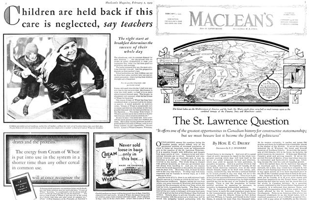 Article Preview: The St. Lawrence Question, February 1929 | Maclean's