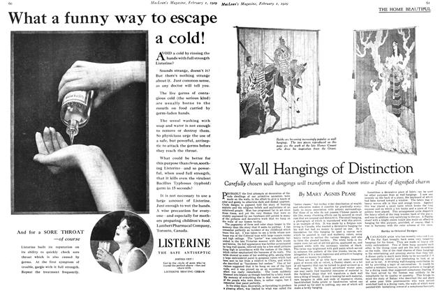 Article Preview: Wall Hangings of Distinction, February 1929 | Maclean's