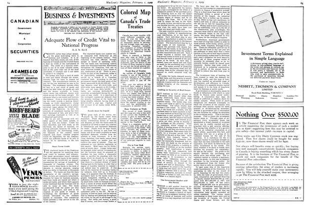 Article Preview: Adequate Flow of Credit Vital to National Progress, February 1929   Maclean's