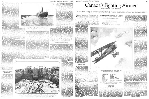 Article Preview: Canada's Fighting Airmen, February 1929 | Maclean's