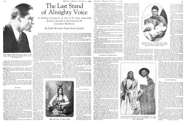 Article Preview: The Last Stand of Almighty Voice, February 1929 | Maclean's
