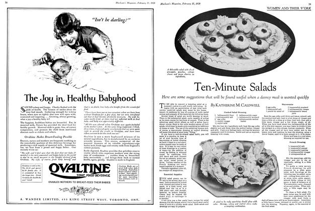 Article Preview: Ten-Minute Salads, February 1929 | Maclean's