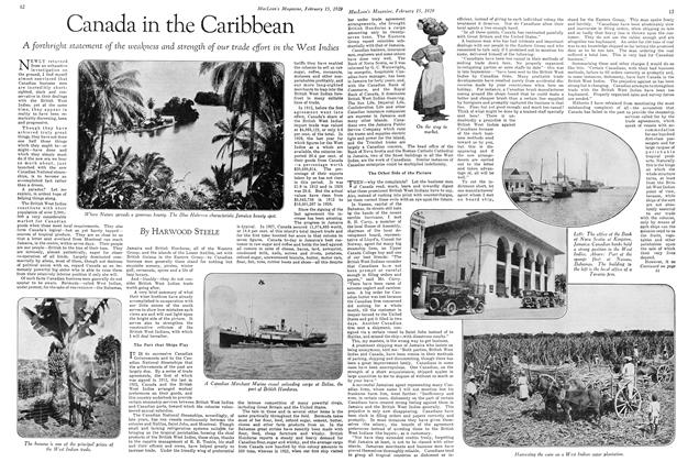 Article Preview: Canada in the Caribbean, February 1929 | Maclean's