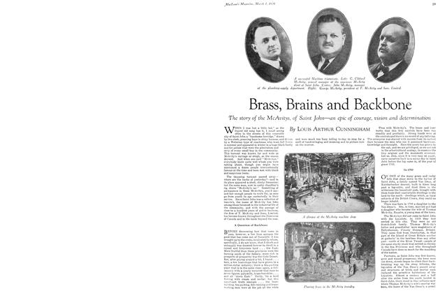 Article Preview: Brass, Brains and Backbone, March 1929 | Maclean's
