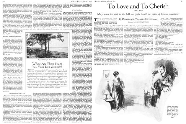Article Preview: To Love and To Cherish PART FIVE, March 1929 | Maclean's