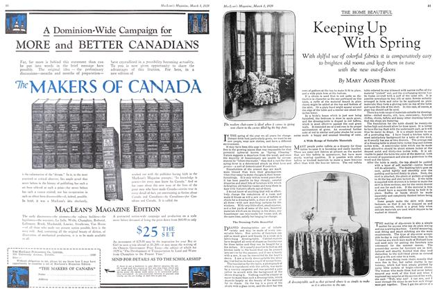 Article Preview: Keeping Up With Spring, March 1929 | Maclean's
