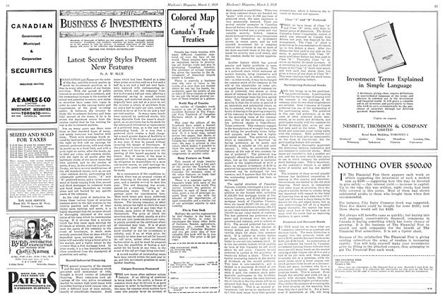Article Preview: Latest Security Styles Present New Features, March 1929 | Maclean's