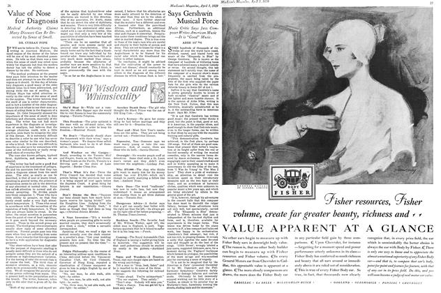 Article Preview: Says Gershwin Musical Force, April 1929 | Maclean's