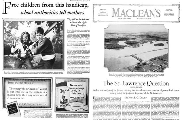 Article Preview: The St. Lawrence Question FOUR: POWER, April 1929 | Maclean's