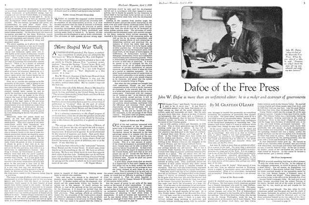 Article Preview: Dafoe of the Free Press, April 1929 | Maclean's