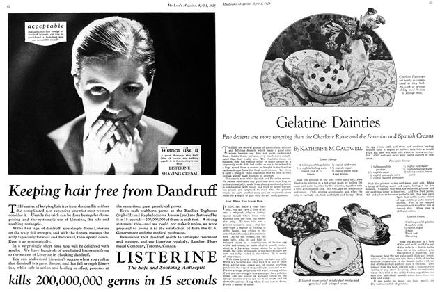 Article Preview: Gelatine Dainties, April 1929 | Maclean's