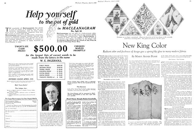 Article Preview: New King Color, April 1929 | Maclean's