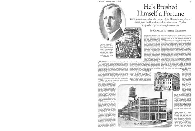Article Preview: He's Brushed Himself a Fortune, April 15 1929 | Maclean's