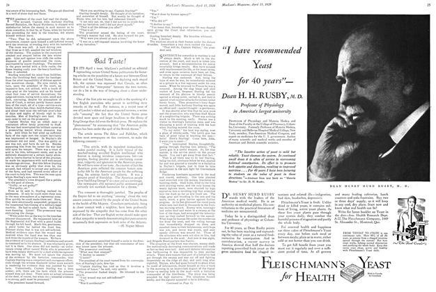 Article Preview: Bad Taste!, April 15 1929 | Maclean's