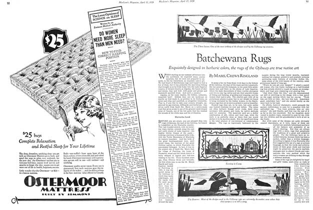 Article Preview: Batchewana Rugs, April 15 1929 | Maclean's