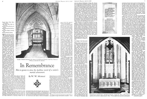 Article Preview: In Remembrance, April 15 1929 | Maclean's