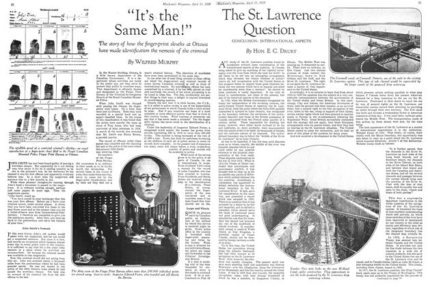 Article Preview: The St. Lawrence Question, April 15 1929 | Maclean's