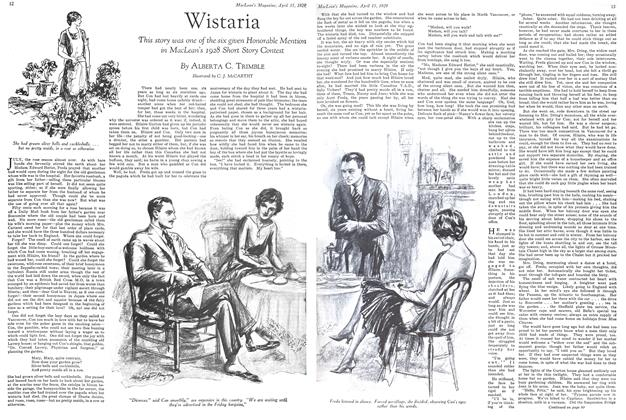 Article Preview: Wistaria, April 15 1929 | Maclean's