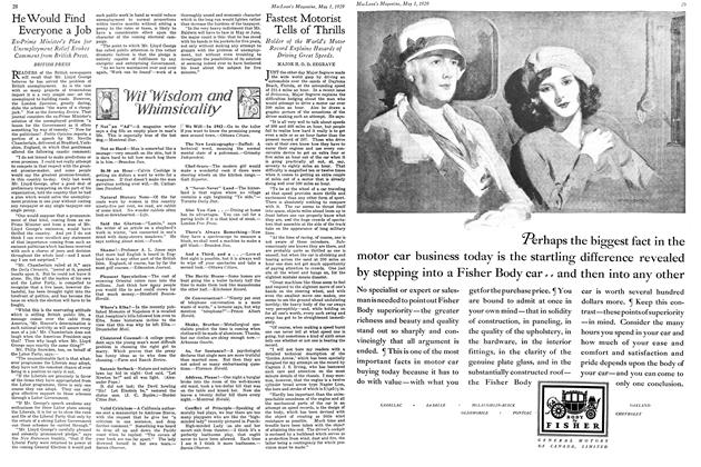 Article Preview: He Would Find Everyone a Job, May 1929   Maclean's